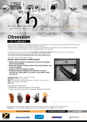 Obsession Seminar <br /> by Pastry Chef Oriol Balaguer